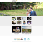 Photography and Video by Zarek Gets a Makeover, photo of photography website home page