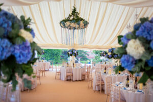 wedding venue, wedding tables, wedding flowers, wedding decorations