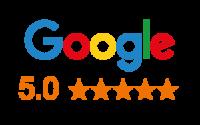 Google logo with 5 stars